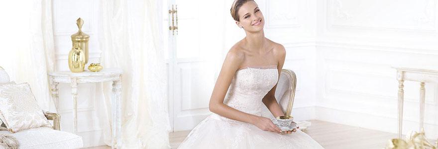 des tissus de robe de mariée